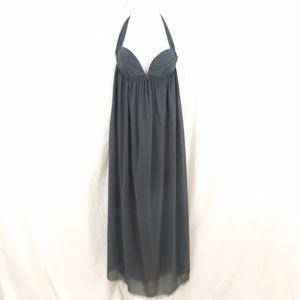 One Teaspoon Grey Chiffon Halter Maxi Dress